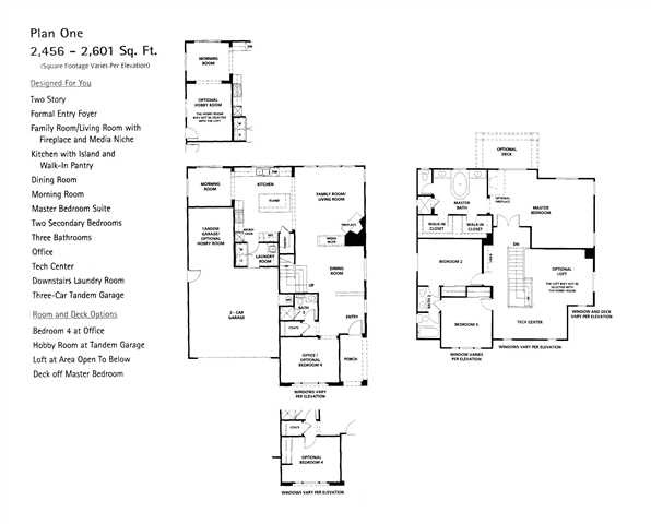Reserve South San Clemente Community Floor Plan 1