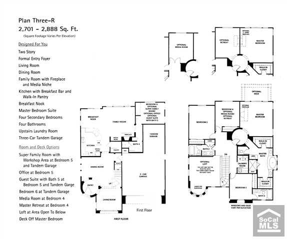 The Reserve South San Clemente Community Floor Plan 3
