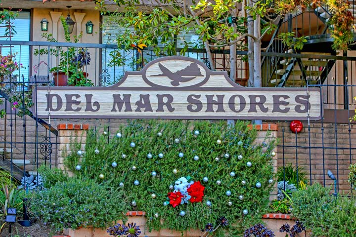 Del Mar Shores Community Sign